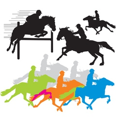horse rider vector image