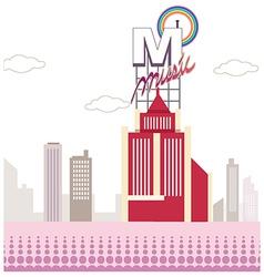 Music City Scene vector image vector image