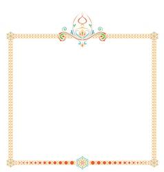 patterned frame vector image