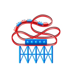 Roller coaster isolated on white vector image vector image