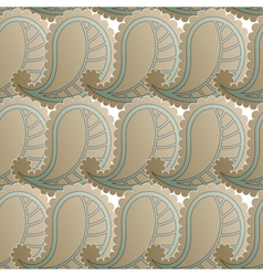 Seamless pattern with retro drawing vector image vector image