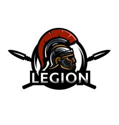 a warrior of rome a legionary logo vector image