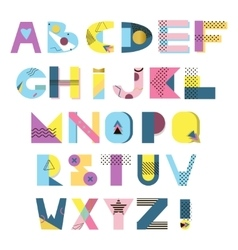 abstract alphabet vector image