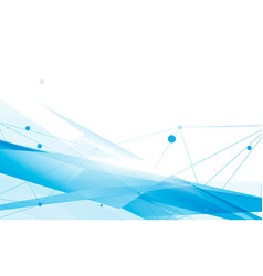 abstract blue and white geometric overlap vector image