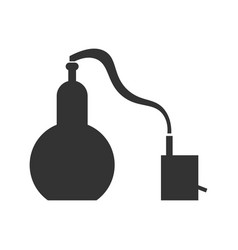 Alembic flat design the chemical process vector