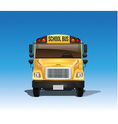 american school bus in vector image