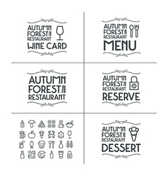 Badges and icons for restaurant vector