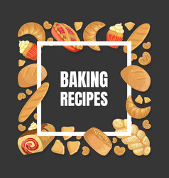 baking recipes banner template culinary class vector image