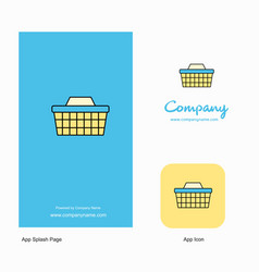 basket company logo app icon and splash page vector image