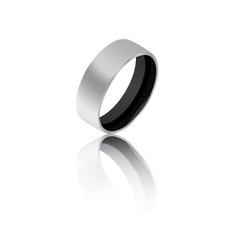 Black ring vector image