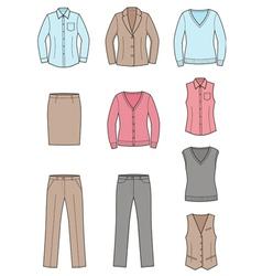 Business clothes set vector