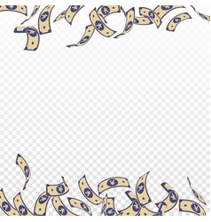 chinese yuan notes falling floating cny bills vector image