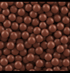 Chocolate balls background vector