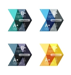 collection of colorful geometric shape vector image