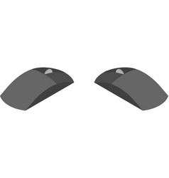 Computer mouse in isometric view from two sides vector