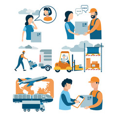concept for delivery service e-commerce online vector image