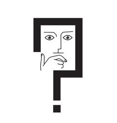 conceptual question mark vector image