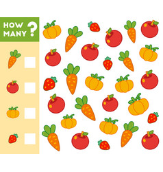 counting game for children count how many fruits vector image