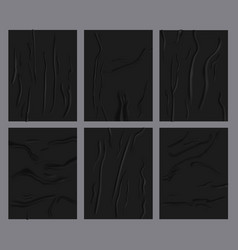 Crumpled paper sheets realistic glued wetness vector