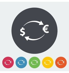 Currency exchange single icon vector image