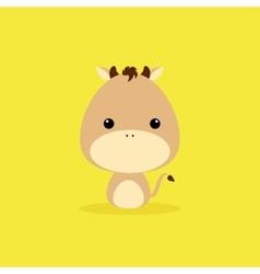 Cute Cartoon Wild horse vector