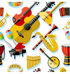digital blue red music vector image