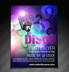 Disco party flyer brochure and poster template vector