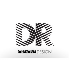 Dr d r lines letter design with creative elegant vector