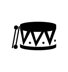 Drum black icon vector