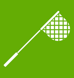 Fishing net icon green vector