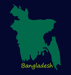 flag and map of bangladesh vector image