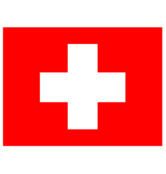 flag of switzerland brush painted flag of vector image