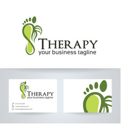 Foot therapy logo design vector