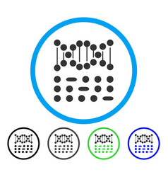 genetic code rounded icon vector image
