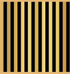 Gold foil stripes vertical lines seamless black vector