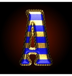 golden and blue letter a vector image