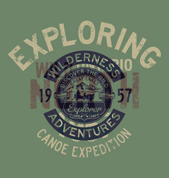 great lakes canoe trip exploring adventure vector image