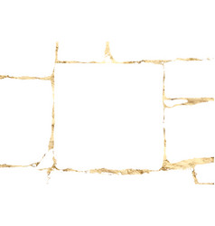 grunge gold texture isolated on black vector image