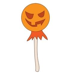 Halloween scarecrow icon in cartoon style vector