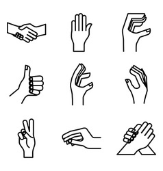 hand gestures design vector image