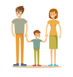 happy family father mother and son together vector image