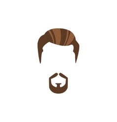 Hipster Male Hair and Facial Style With Circle vector image
