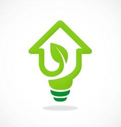 home design idea concept ecology logo vector image