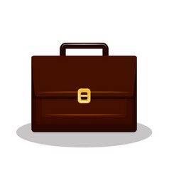 Icon suitcase brifcase brown isolated vector
