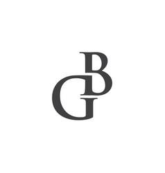 Initial gb logo template vector