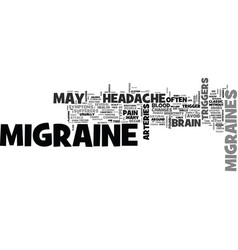 Is this a migraine headache text background word vector