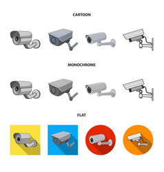 Isolated object camcorder and camera logo set vector