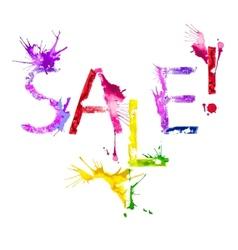 Isolated paint splash inscription sale vector