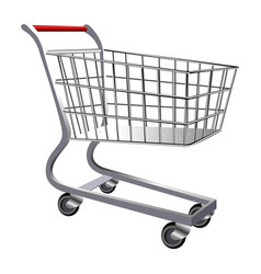 isolated shopping cart vector image