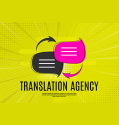 Language translation agency concept with speech vector